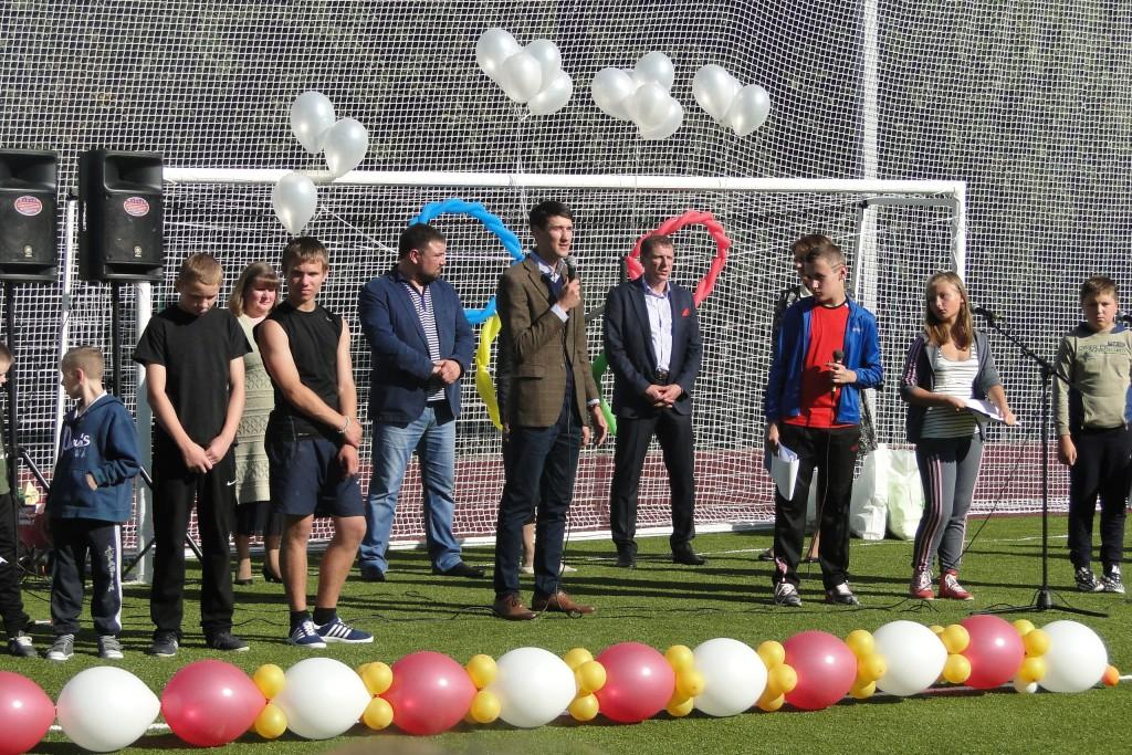 Открытие стадиона в Куйвозовской школе